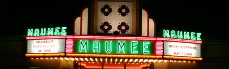 Maumee Indoor Theater outside building